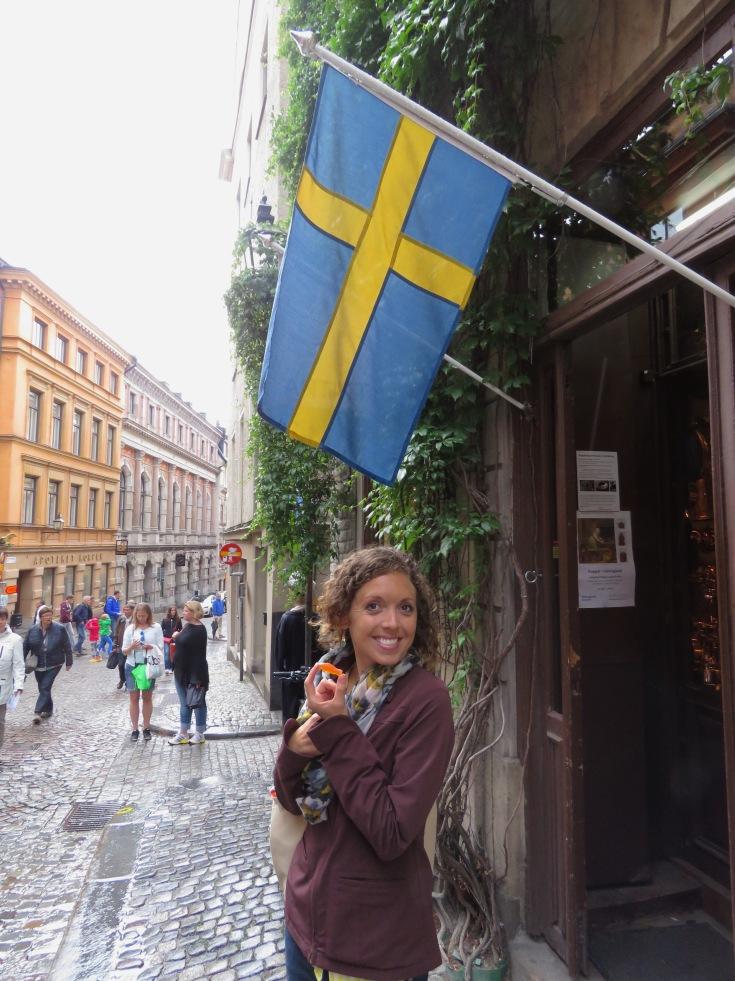 Swedish Fish under the Swedish flag