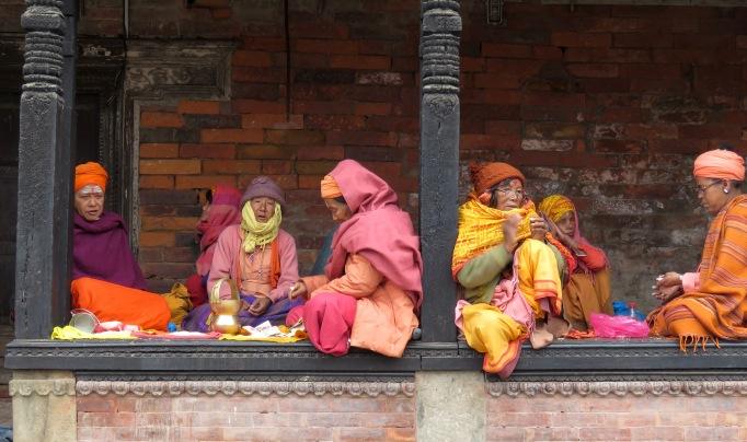 Women near the Pashupati Temples - Kathmandu, Nepal