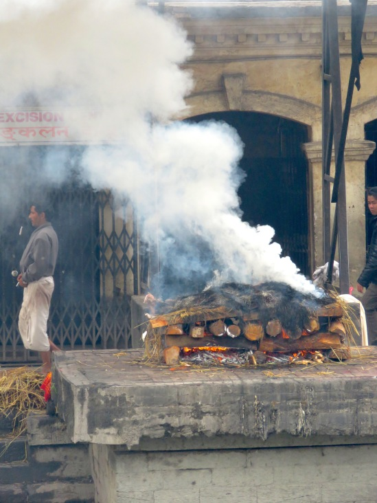 Cremation of Bodies at the Ghats - Pashupati, Nepal- Read about the sacred public cremation of bodies in Pashupati, Nepal, near Kathmandu, at www.beautifulfillment.com