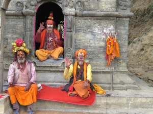 Sadhu Men - Pashupati, Nepal
