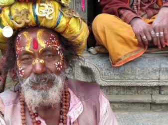 The Sweet Eyes of a Sadhu Man - Pashupati Nepal - by Anika Mikkelson - Miss Maps
