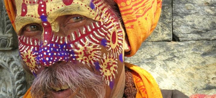 Smiles of a Sadhu Man - Pashupati Nepal - by Anika Mikkelson - Miss Maps