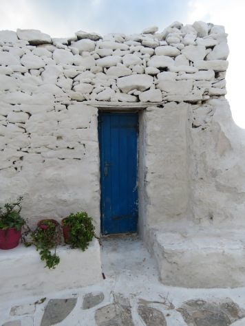 White and Blue Buildings - Mykonos, Greece - April 2015 - by Anika Mikkelson - Miss Maps