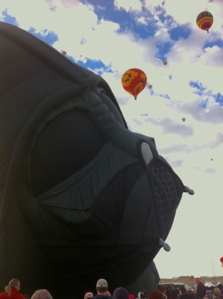 Albuquerque Balloon Fiesta Darth and Bananas- visit www.beautifulfillment.com for more inspirations!