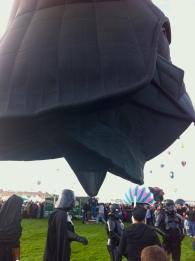 Albuquerque Balloon Fiesta Darth Vader- visit www.beautifulfillment.com for more inspirations!