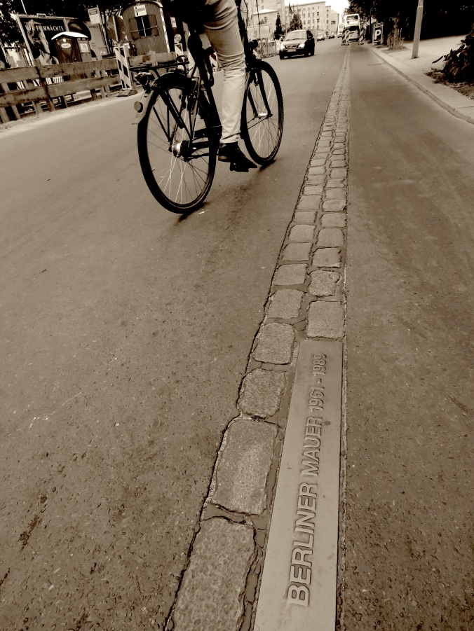 Biking on the Berlin Wall - Read on at www.beautifulfillment.com