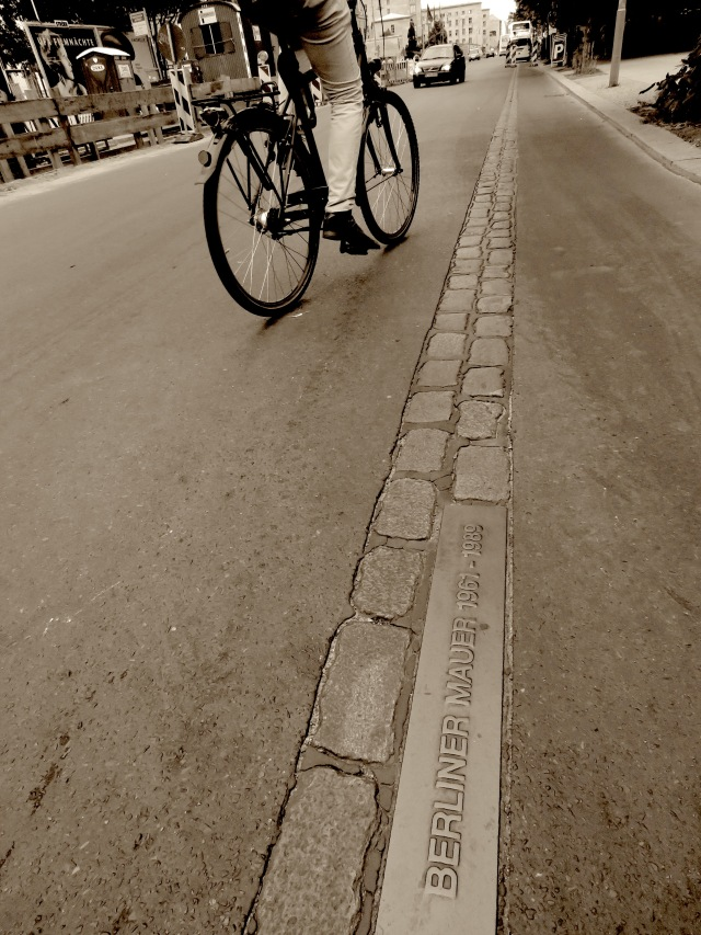 Biking on the Berlin Wall - Read on at www.beautifulfillment.com