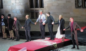 Cast of Hamlet at Elsinore: Kronborg Castle during Shakespeare Days- Helsingor, Denmark - Read the story at www.beautifulfillment.com