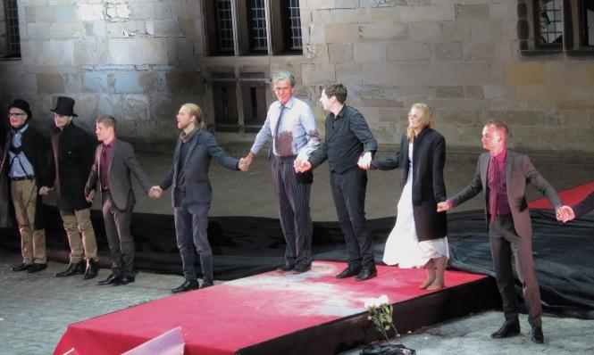 Cast of Hamlet at Elsinore: Kronborg Castle during Shakespeare Days- Helsingor, Denmark - Read the story at www.beautifulfillment.com