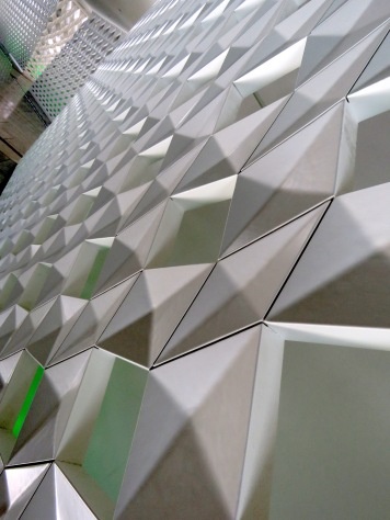 Geometric Walls Within Oslo's Opera House. Read the story at www.beautifulfillment.com