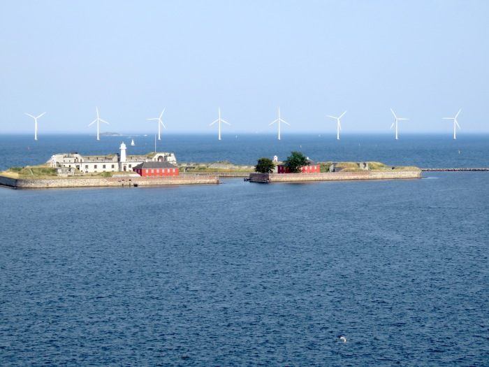Wind Turbines of Orsund Straight, running between  Denmark and Sweden Learn about the journey at www.beautifulfillment.com