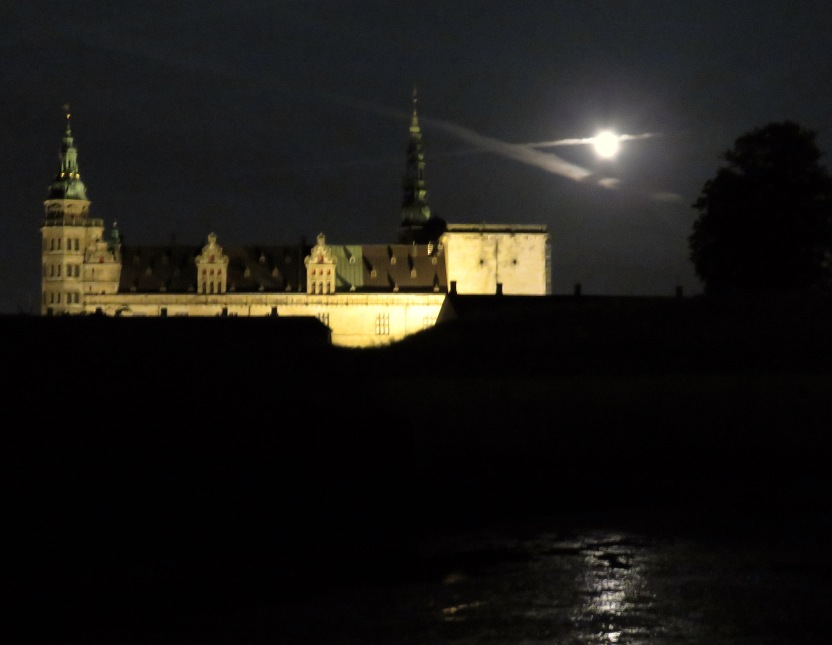 Kronborg Castle under the Moonlight in Helsingore (Elsinore) Denmark. Read the story at www.beautifulfillment.com