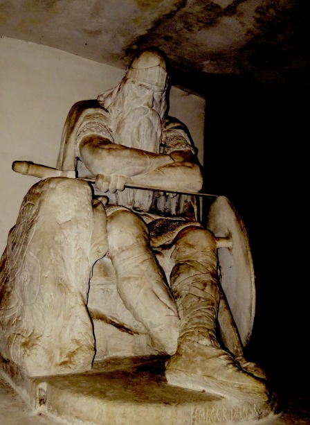 Ogier the Dane in the Casemates of Kronborg Castle in Helsingore (Elsinore) Denmark. Read the story at www.beautifulfillment.com