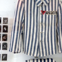 Prisoners' Striped Pajamas - Sachsenhausen Concentration Camp Memorial - Learn more at www.beautifulfillment.com