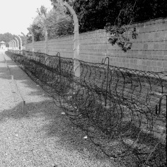 Sachsenhausen Concentration Camp Memorial Barbed Wire - Learn more at www.beautifulfillment.com