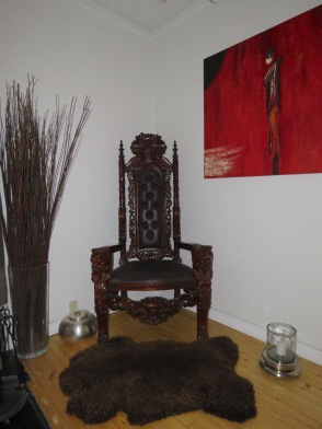 Viking Chair at our Apartment in Oslo Norway. Read the story at www.beautifulfillment.com