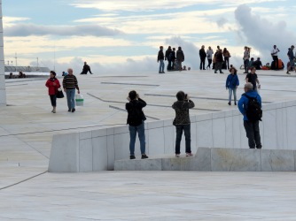 White Expanses on the Roof of the Oslo Opera House - Oslo, Norway - by Anika Mikkelson - Miss Maps