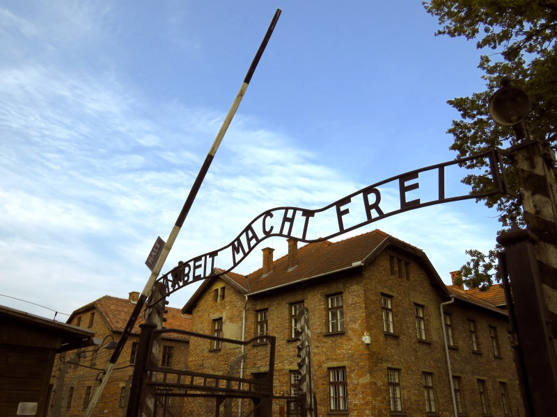 Arbeit Macht Frei Auschwitz Sign - Read more at www.beautifulfillment.com