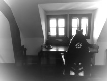 Dracula's Desk Bran Castle - Anika Mikkelson www.MissMaps.com