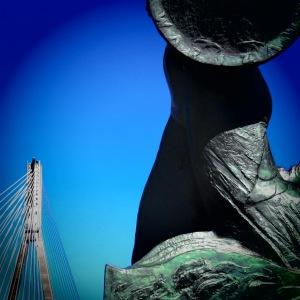 Syrenka Warszawska: Mermaid of Warsaw, and Świętokrzyski Bridge - Read more at www.MissMaps.com