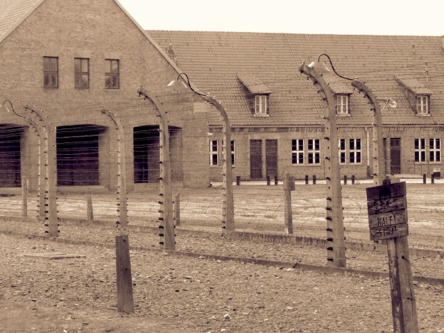 Halt Stop Sign Auschwitz - Read more at www.beautifulfillment.com