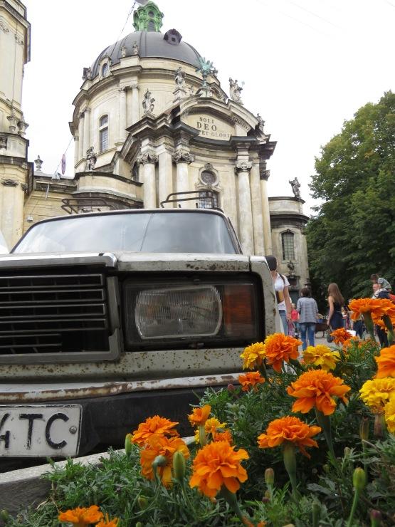 Lviv Car and Church