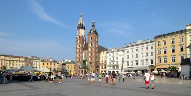 Main Square and Saint Mary's Church Krakow - Read more at www.beautifulfillment.com