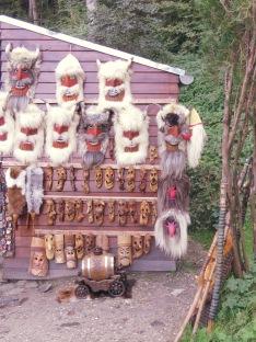 Monster Masks at Bran Castle - Anika Mikkelson www.MissMaps.com