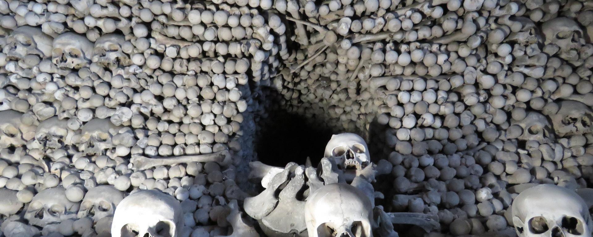 Skulls and Skeletons Up Close Sedlec Ossuary Kutna Hora - Read more at www.beautifulfillment.com