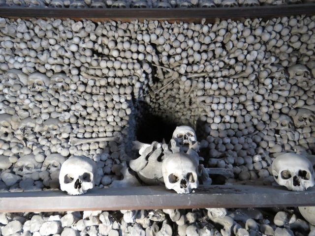 Skulls and Skeletons Up Close Sedlec Ossuary Kutna Hora - Read more at www.beautifulfillment.com