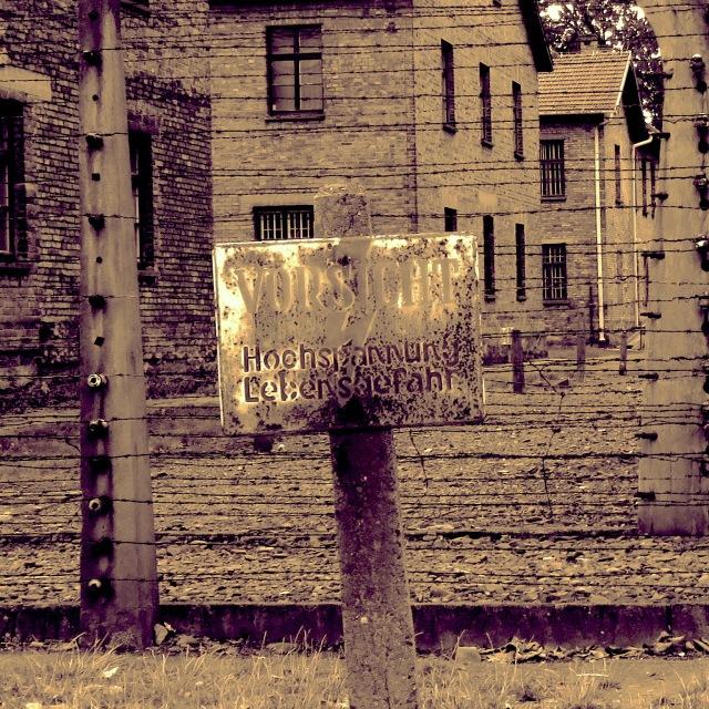 Vorsight Sign Auschwitz - Read more at www.beautifulfillment.com
