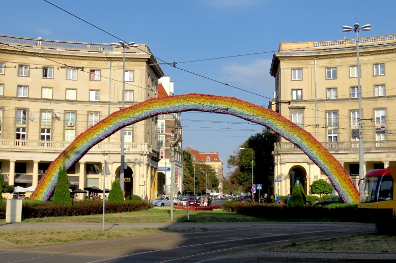 Tęcza : Warsaw's Controversial Rainbow Statue- Read more at www.MissMaps.com