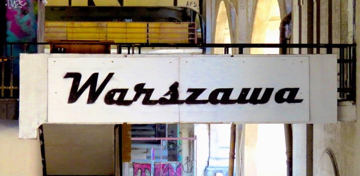 Warszawa Sign
