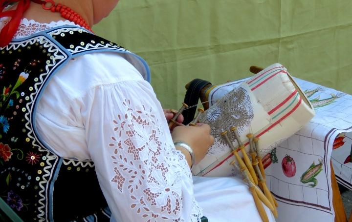 Woman Working Needle Point Krakow