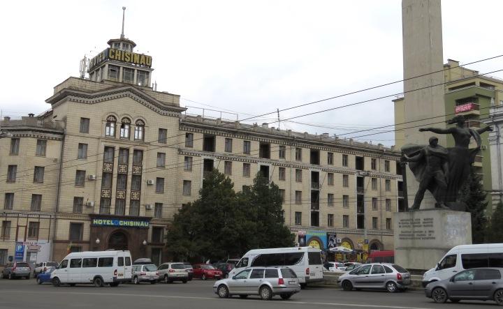 Chisinau Hotel and Statue - By Anika Mikkelson www.MissMaps.com