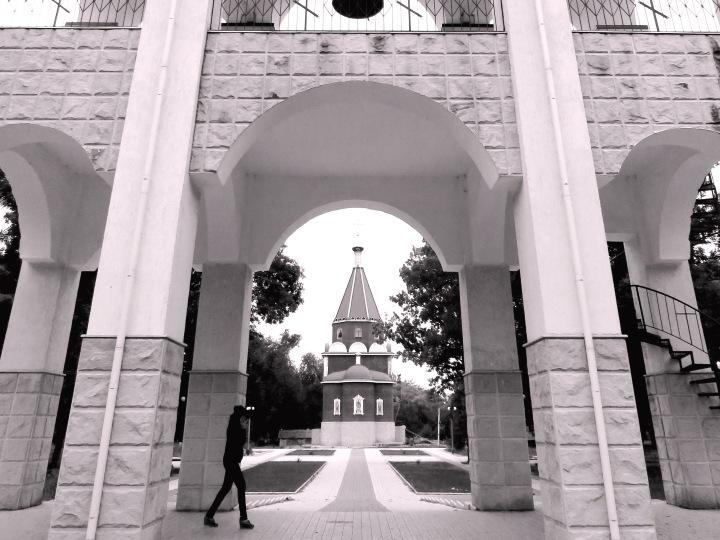 Entrance to Nativity Church - Tiraspol, Transnistria - By Anika Mikkelson www.MissMaps.com