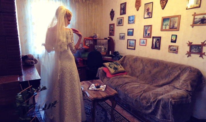 The Blushing Bride on her wedding day - Khmelnetskyi, Ukraine - by Anika Mikkelson - Miss Maps