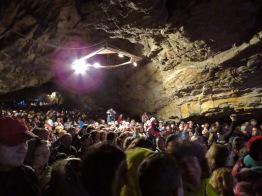 A Portion of the Audience at Pestera Romanesti Cave Concert - Timis, Romania by Anika Mikkelson www.MissMaps.com