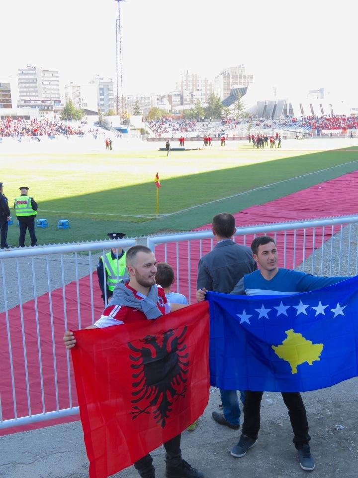 Albania and Kosova Flags