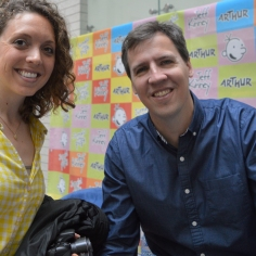 An inspiration for all ages - meeting Jeff Kinney and getting a Romanian version of Wimpy Kid signed ! - Bucharest Romania - by Anika Mikkelson - Miss Maps - www.MissMaps.com
