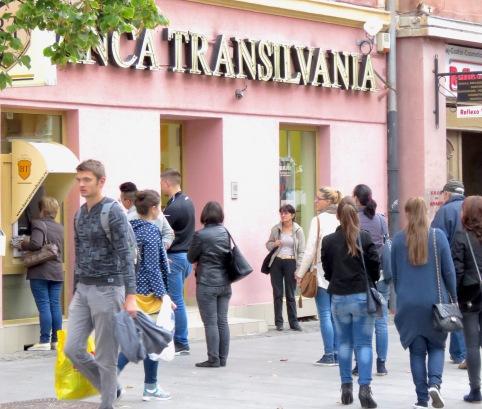 Banca Transilvania - Sibiu Romania - Anika Mikkelson - Miss Maps - www.MissMaps.com