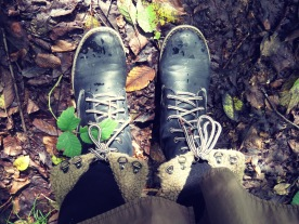 Black Boots and Autumn's Walkway - By Anika Mikkelson www.MissMaps.com