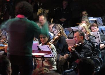 Concert Simfonic in Pestera Romanesti - Violin Section - Timis Romania by Anika Mikkelson www.MissMaps.com