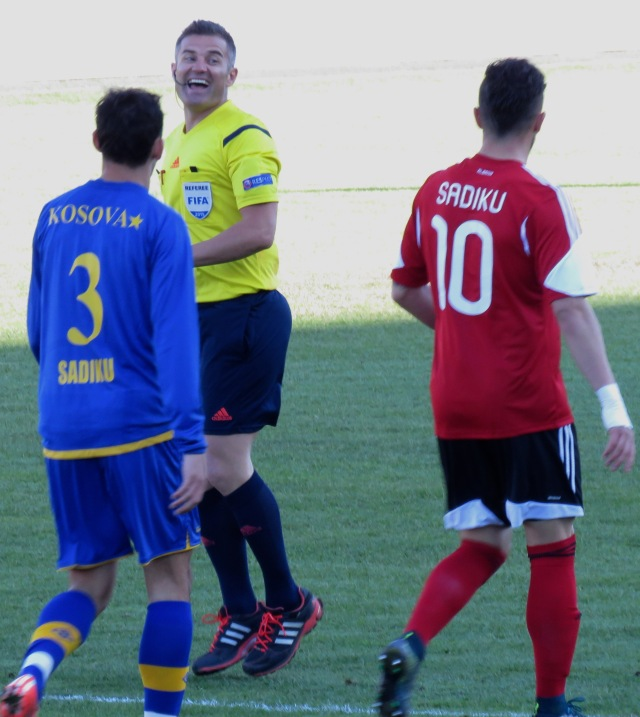 Even the Ref was Undecided - Kosovo vs. Albania Football - November 2015