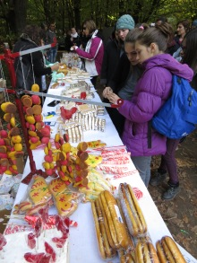 Gingerbread, Hvala and sweets for sale outside Pestera Romanesti's Cave Concert by Anika Mikkelson www.MissMaps.com
