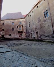Hunedoara Castle Courtyard - by Anika Mikkelson - Miss Maps - www.MissMaps.com