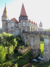 Hunedoara (Corvin) Castle's Picturesque Entrance - Transylvania, Romania - by Anika Mikkelson - Miss Maps - www.MissMaps.com