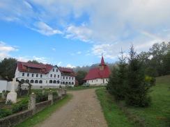 Romanian Monastery and a Rainbow by Anika Mikkelson, Miss Maps, www.MissMaps.com