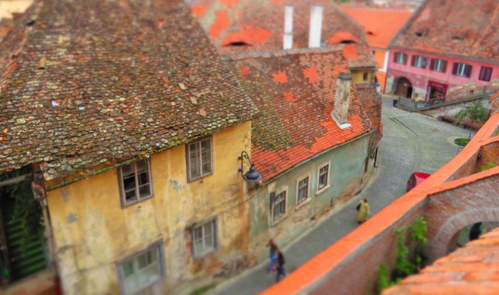 Streets of Sibiu Romania - Anika Mikkelson - Miss Maps - www.MissMaps.com