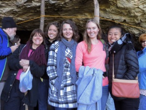 Volunteers at Pestera Romanesti Cave Concert by Anika Mikkelson www.MissMaps.com